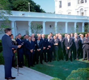 President Kennedy Speaks to USAID Directors in 1962